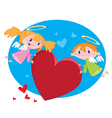 angels and hearts vector image