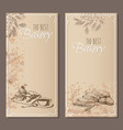 Best bakery cards Menu cards sketch vector image vector image