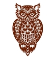 Brown owl vector image vector image