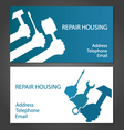 Business card for home repair vector image vector image