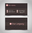 Business card set template Brown chocolate color vector image