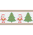 christmas embroidery seamless texture vector image