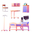 clinic ward or chamber interior stuff isolated set vector image vector image