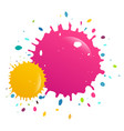 colorful splashes background vector image vector image