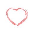 crayon valentine 14 000 vector image vector image