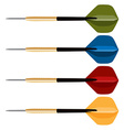 Dart arrows collection vector image vector image