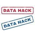 Data Hack Rubber Stamps vector image vector image