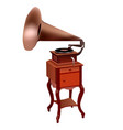 elegant gramophone of the 19th century vector image vector image