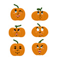Emotions pumpkin Set expressions avatar for vector image vector image