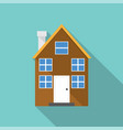 european home style flat design vector image