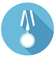 flat medal icon with long shadow vector image vector image