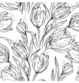 Floral seamless pattern with tulips vector | Price: 1 Credit (USD $1)