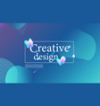fluid shapes composition wavy cover design vector image vector image