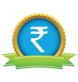 Gold rupee logo vector image vector image