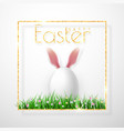 happy easter realistic easter eggs isolated vector image vector image
