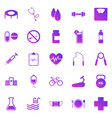 health gradient icons on white background vector image vector image