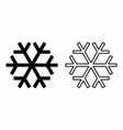 icons of snowflakes vector image vector image