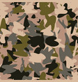 khaki camo seamless pattern simple army print in vector image vector image