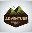 logo for camping mountain adventure emblems vector image vector image