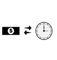 money buy time vector image