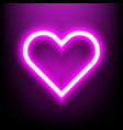 neon bright lamp in heart shape sign vector image