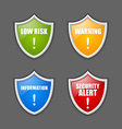 Notification message shields vector image