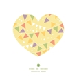 party decorations bunting heart silhouette pattern vector image vector image