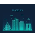 Phoenix skyline trendy linear vector image vector image