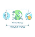 physical therapy concept icon vector image vector image