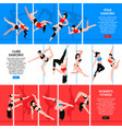 pole dance horizontal banners vector image vector image