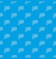 pow speech bubble pattern seamless blue vector image vector image