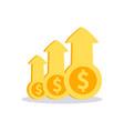 profit money icon vector image vector image