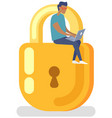 protection personal information users vector image