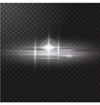 Realistic beam light on transparent background vector image vector image