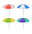 realistic detailed 3d umbrella beach set vector image vector image