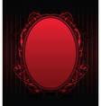 red floral frame vector image vector image