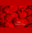 red hearts on Valentine Day vector image vector image