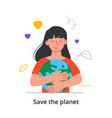 saving planet concept vector image vector image