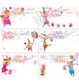 set happy birthday cards vector image vector image