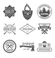set of vintage logotypes elements labels vector image vector image