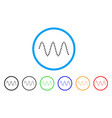 sinusoid waves rounded icon vector image vector image
