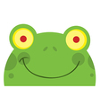 Smiling Frog Face vector image vector image