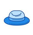 tourist hat line icon vector image