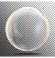 transparency bubble soap or underwater or water vector image vector image