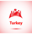 turkey detailed silhouette trendy vector image vector image