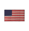 united states of american flag insignia national vector image vector image