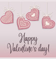 valentines day poster with pink heart cookies vector image vector image