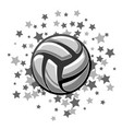 volleyball symbol stars vector image vector image