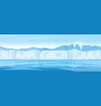 winter arctic ice landscape vector image vector image