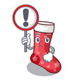 with sign character christmas sock for decoration vector image